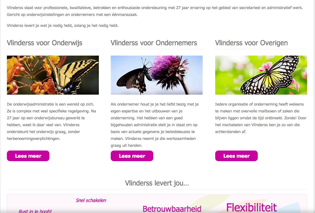 Vlinderss-scroll down
