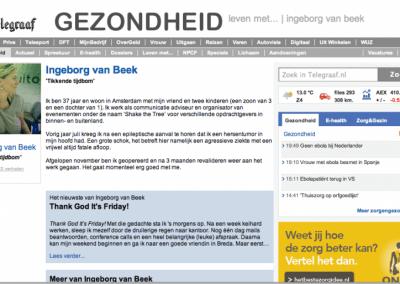 Ingeborg van Beek- Blog Telegraaf
